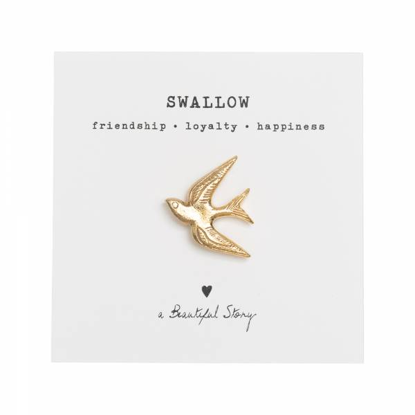 Brooch Swallow Gold
