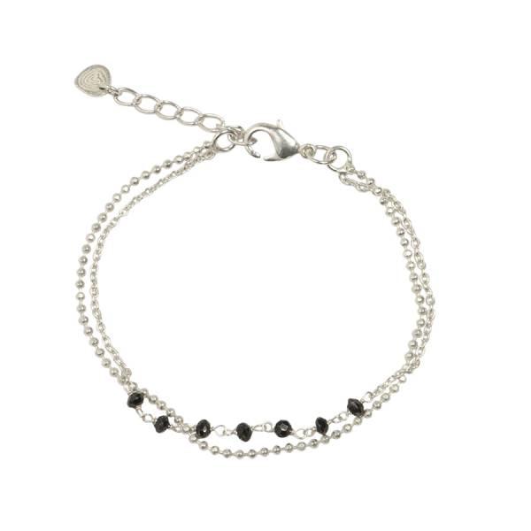 Dreams Schwarzer Onyx Silber Armband