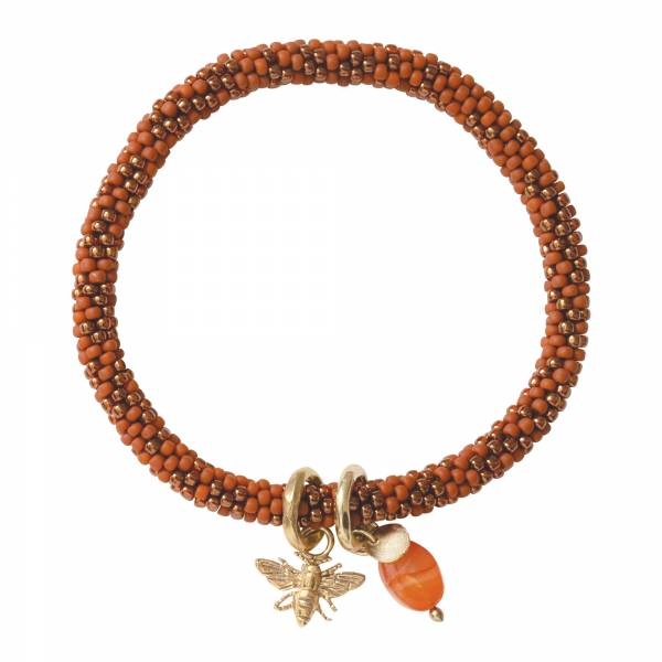 Jacky Multi Color Carnelian Gold Bracelet