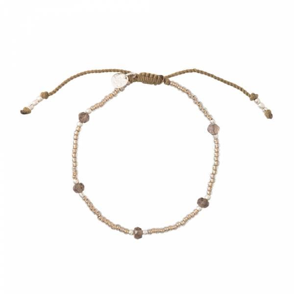 Friendly Smokey Quartz Silver Bracelet
