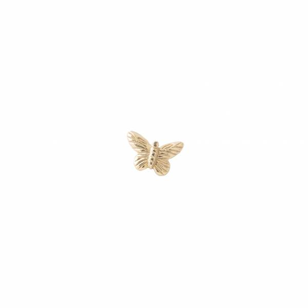Butterfly Sterling Silver Gold-Plated Earring