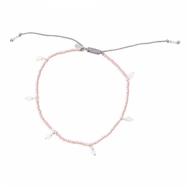 Dreamy Rose Quartz Silver Anklet
