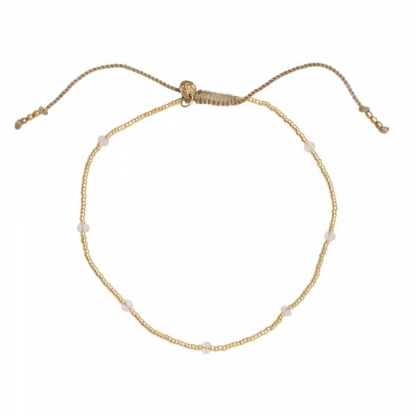Spring Moonstone Gold Anklet