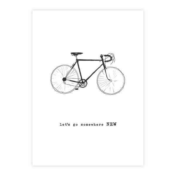 Greeting Card Bycicle