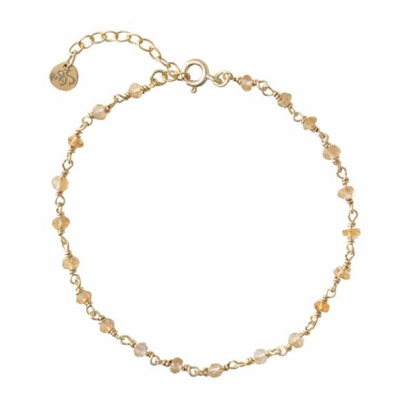 Harmony Citrine Gold Bracelet