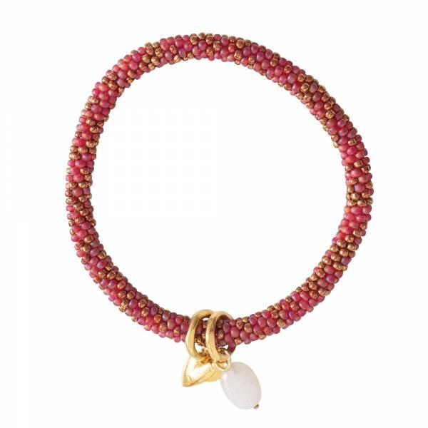 Jacky multi color Moonstone Gold bracelet