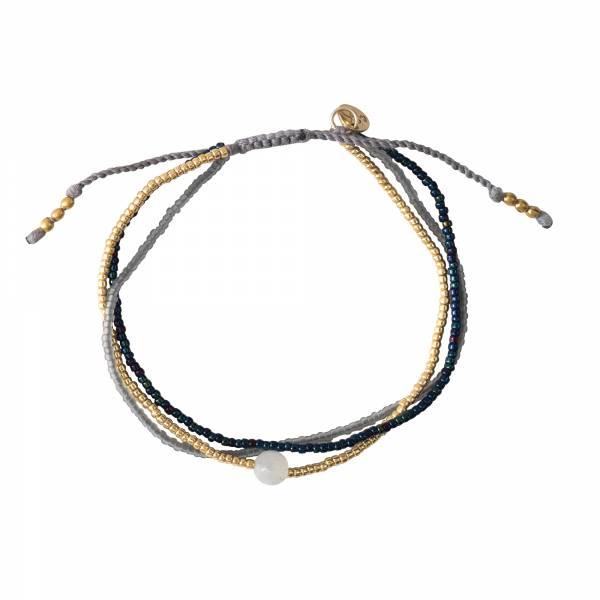 Bloom Maansteen Goud Armband