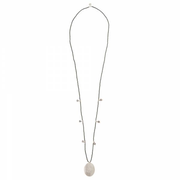 Feminine Labradorite Silver necklace