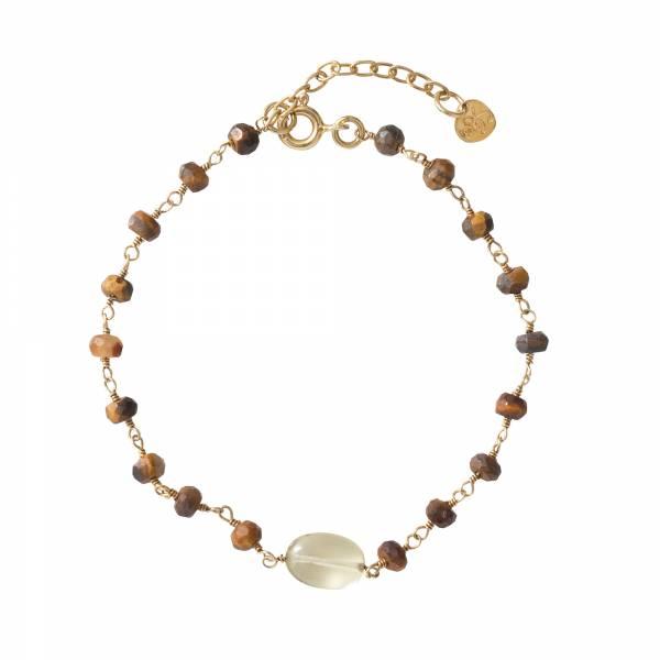 Universe Tiger Eye Citrine Gold bracelet