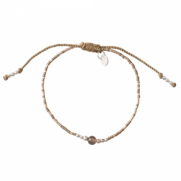 Iris Rookkwarts Zilver Armband
