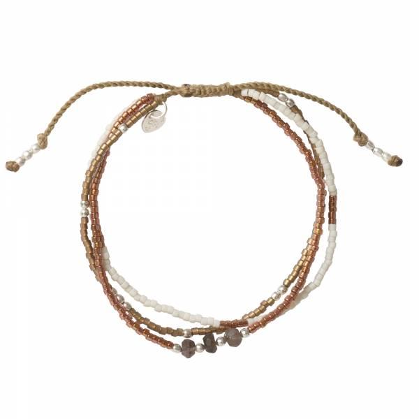 Gentle Smokey Quartz Silver Bracelet