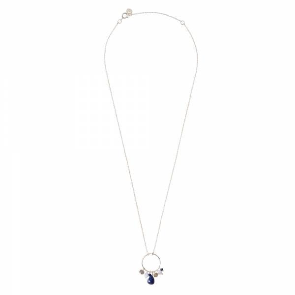 Sparkles Lapis Lazuli Mix Zilver Ketting