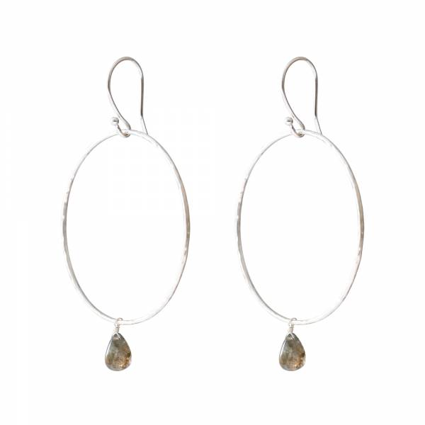 Embrace Labradorite Silver earrings