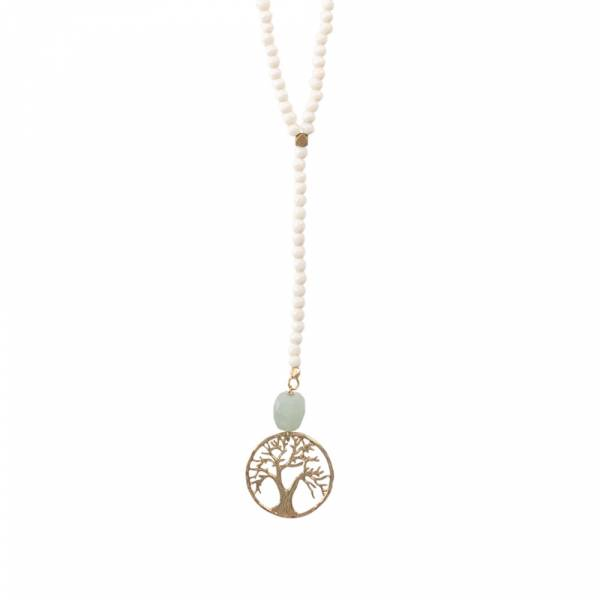 Namaste Aventurine Tree Gold Necklace