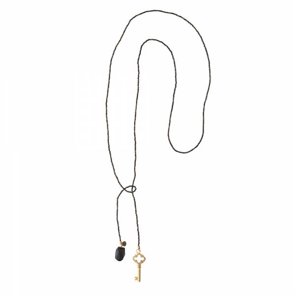 Nova Black Onyx Gold Necklace