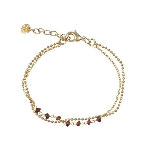Dreams Garnet gold bracelet