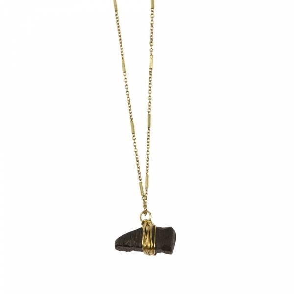 Passion Zwarte Onyx goud ketting
