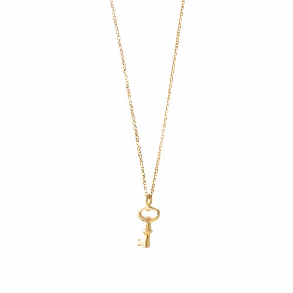 Delicate Key Gold Necklace