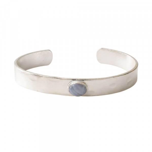 Liberty Blauwe Agaat Zilver Armband