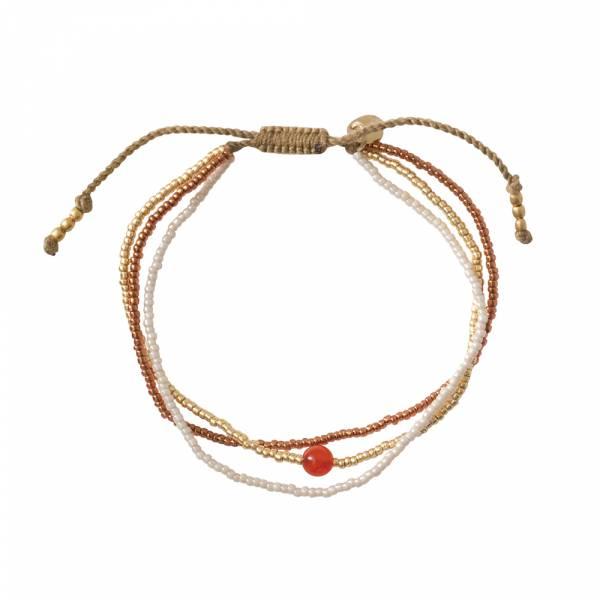 Bloom Carneool Goud Armband