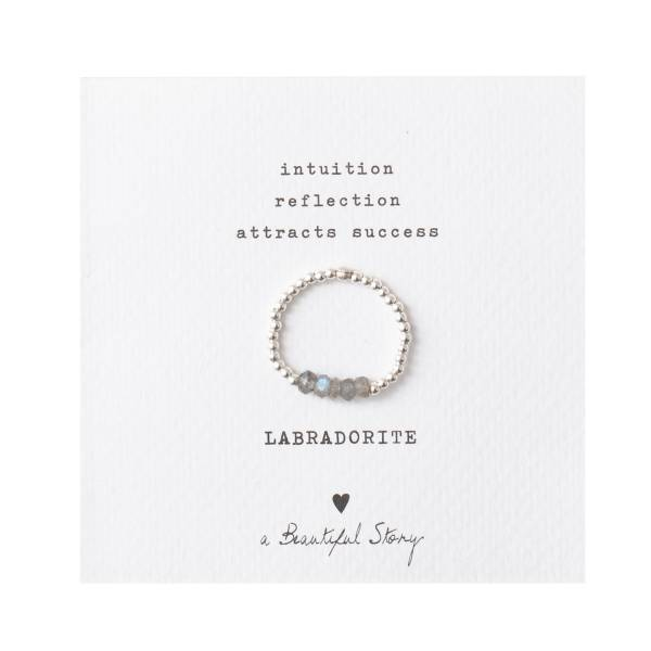 Beauty Labradoriet Zilver Ring M/L