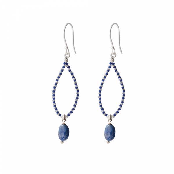 Magical Lapis Lazuli Zilver Oorbellen