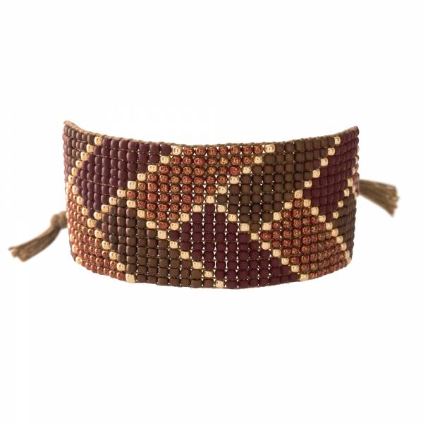 Willow Granaat Goud Armband
