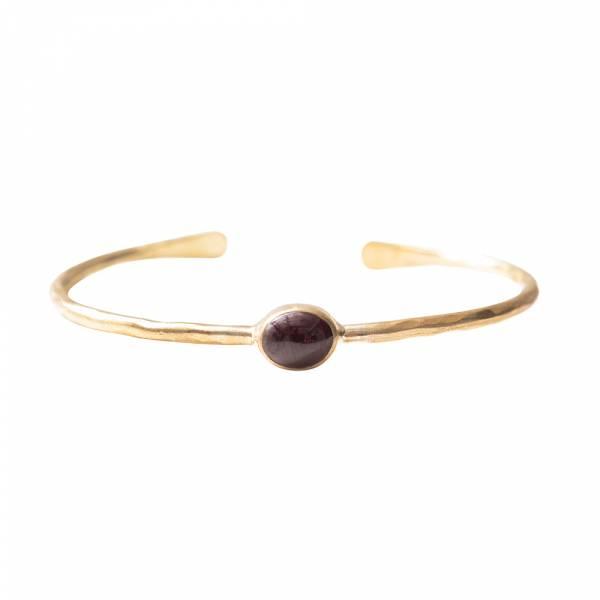 Moonlight Garnet Gold Bracelet