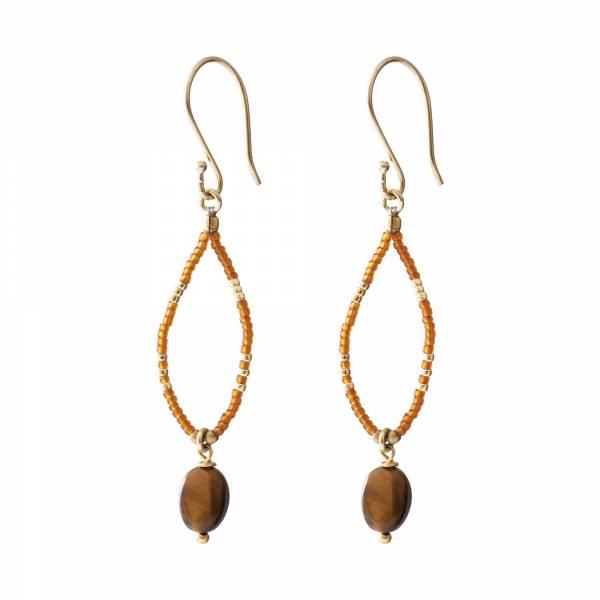 Enjoy Tiger Eye Gold earrings