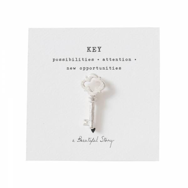 Brooch Key Silver