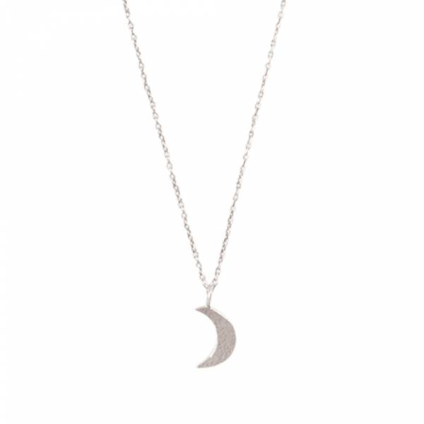 Delicate Moon Sterling Silver Necklace