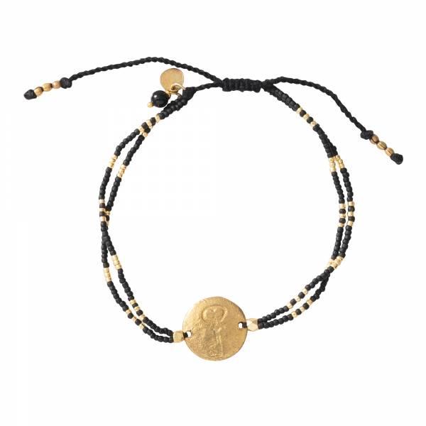 Glitter Black Onyx Gold bracelet