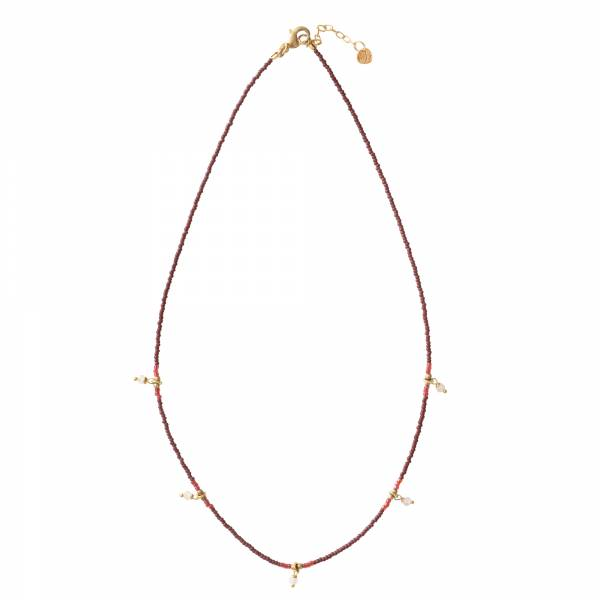 Cocoon Moonstone Gold necklace