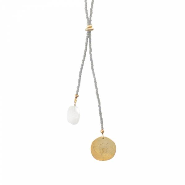 Fairy Maansteen Lotus Goud Ketting