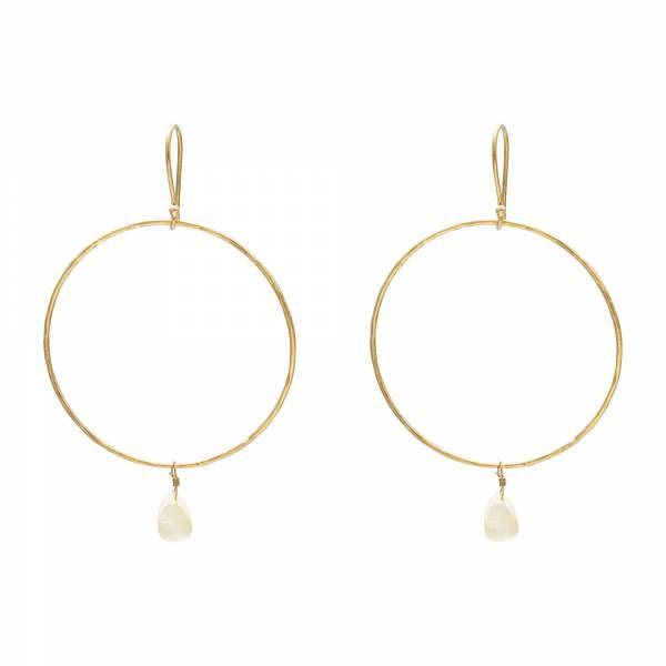 Embrace Citrine Gold Earrings