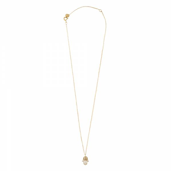 Delicate Hamsa Gold Necklace