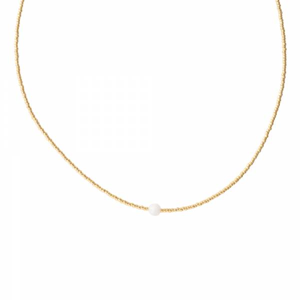 Flora Moonstone Gold Necklace