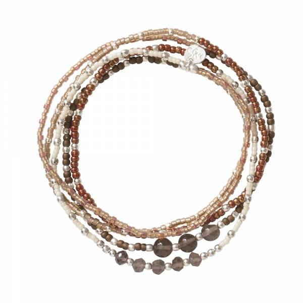 Together Smokey Quartz Silver Bracelet