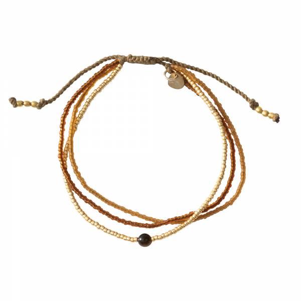 Bloom Tiger Eye Gold Bracelet