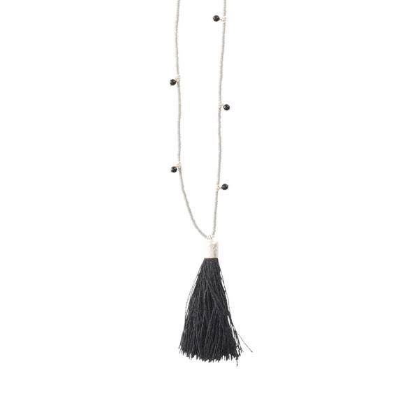 Luminous Black Onyx Silver Necklace