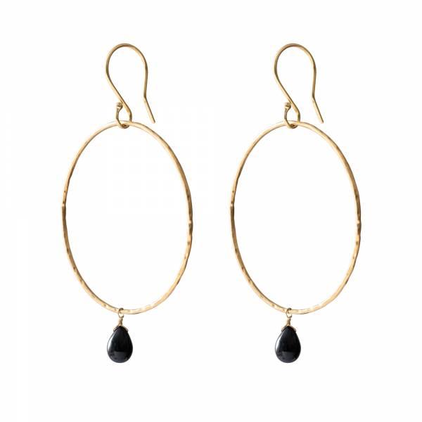 Embrace Black Onyx Gold earrings