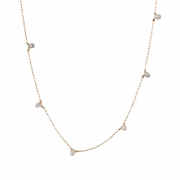 Mini Labradorite Sterling Silver Gold-plated Necklace
