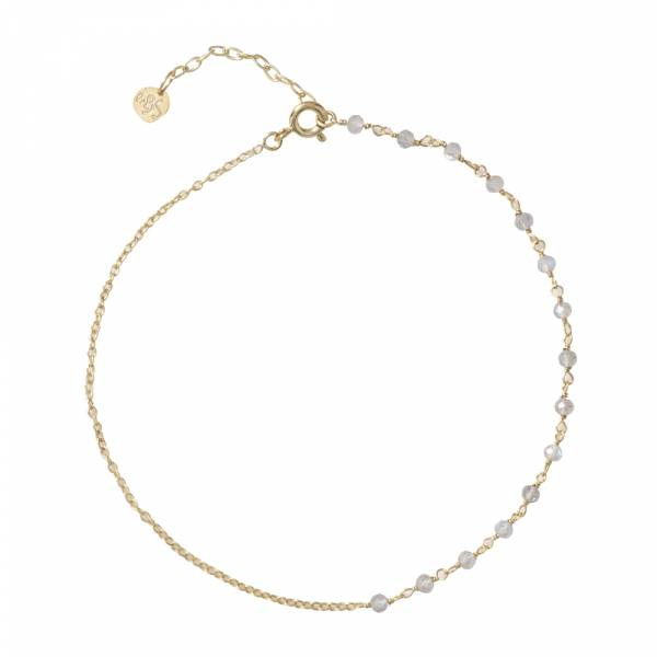 Shimmer Labradorite Sterling Silver Gold-Plated Anklet