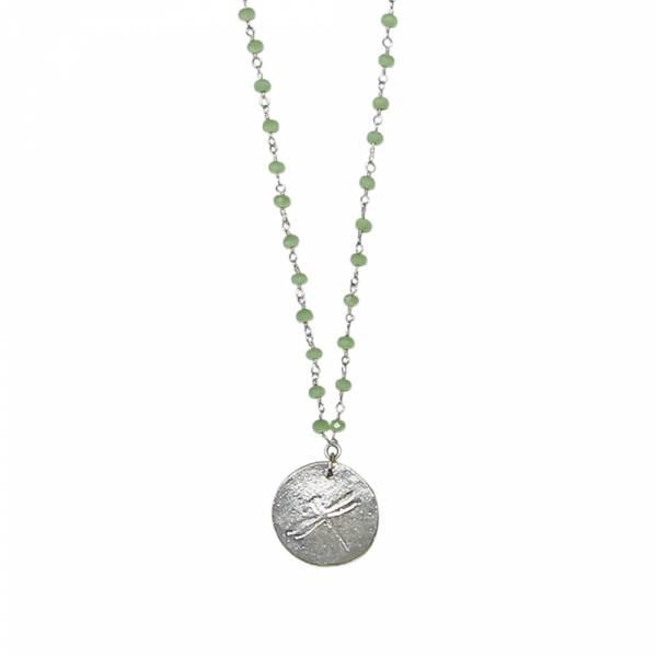 Grüne Rosenkranz Halskette