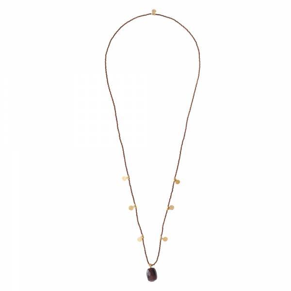 Charming Garnet Gold Necklace