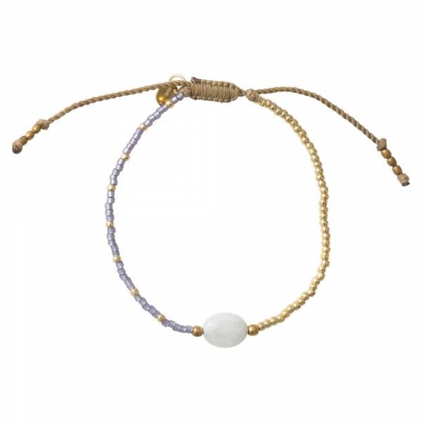 Ruby Moonstone Gold Bracelet