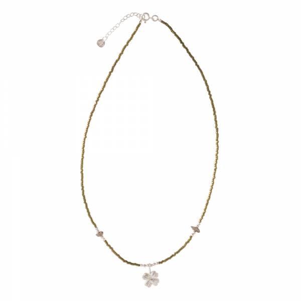 Wildflower Labradorite Silver Necklace