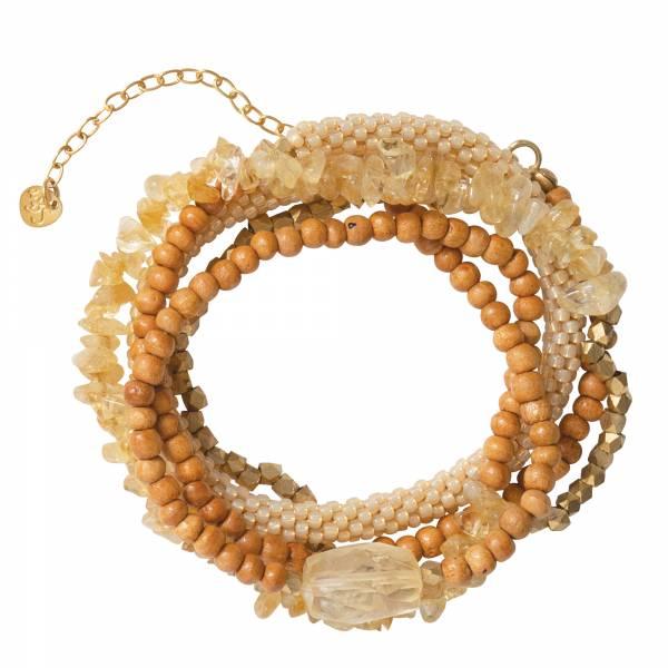 Superwrap Citrine Gold Bracelet