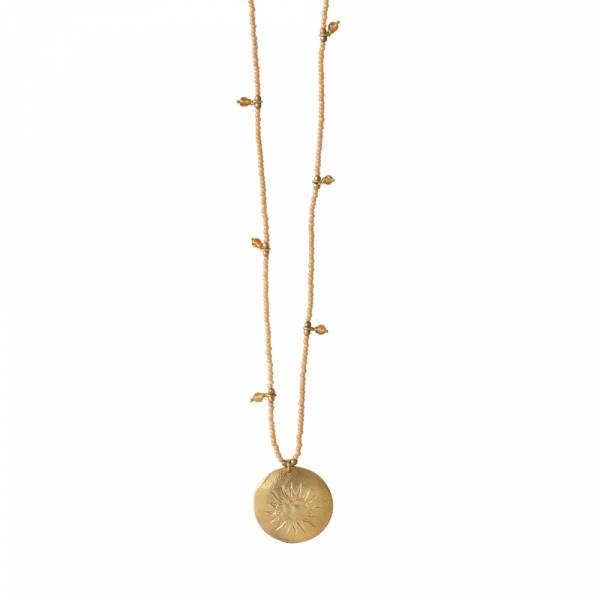 Radiant Citrien Goud Ketting
