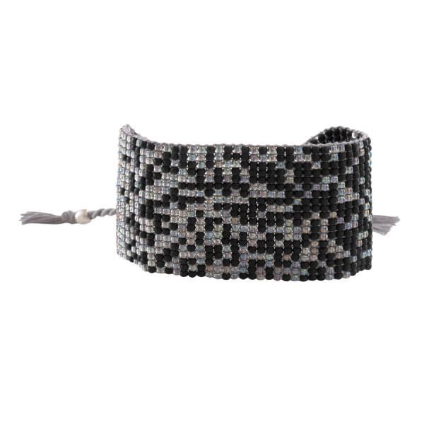 Autumn Schwarzer Onyx Silber Armband